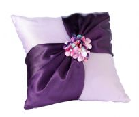 Radiant Flower Wedding Ring Cushion